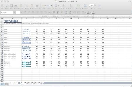TinyGraphs Excel 2008